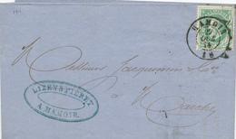781/27 - Lettre TP 30 Double Cercle HAMOIR 1874 - Cachet Et Entete Lizen § Piéret - NIPA 600 X 3. - 1869-1883 Leopold II.