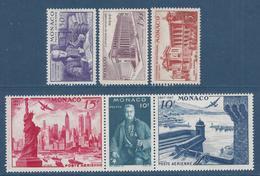 Monaco Poste Aérienne - PA YT N° 22 à 27 - Neuf Avec Charnière - 1947 - Poste Aérienne