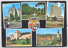 CPA TRANSPORT, MOTORBIKES, SCOOTER, CAR, BUSS, BOAT, TARGU MURES CATHEDRAL, LAKE, HOTEL, FORTRESS, PANORAMA - Motos