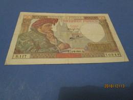 BANKNOTE Billet France 50f Jacques Coeur 11/09/1941 Votre Date De Naissance ? - 1871-1952 Circulated During XXth