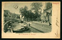 Venezia - Rio E Campiello S. Trovaso - Viaggiata 1902 - Rif.  11760 - Venezia