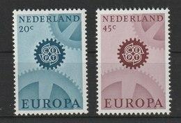 MiNr. 878 - 879  Niederlande / 1967, 2. Mai. Europa. - 1949-1980 (Juliana)