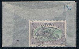 Liberia 186 Used Crocodile 1921 (L0469) - Liberia