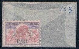 Liberia 208 Used Elephant 1921 CV 2.75 (L0481) - Liberia