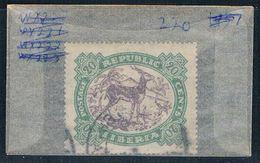 Liberia 220 Used Antelope 1923 (L0493) - Liberia