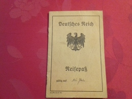 Wow 1921 Germany Passport Passeport Reisepass Issued In Kristiania Oslo Norway - Rare First Type Of Weimar Republic - Documents Historiques
