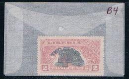 Liberia B4 Unused Surcharged 1918 CV 1.40 (L0562) - Liberia