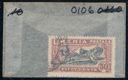 Liberia O106 Used Mudskipper 1918 (L0664) - Liberia