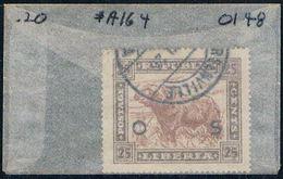 Liberia O148 Used West African Buffolo 1923 (L0689) - Liberia