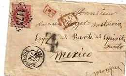 - SEINE - COURBEVOIE - GC.1175 S/TP Napoléon Lauré N°32 + Càd T.15 + PP + PD - 1868 Rare Destin. - 1863-1870 Napoléon III Lauré