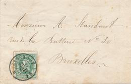 786/27 - Lettre TP 30 Double Cercle WAERSCHOOT 1873 Vers BXL - NIPA 400 X 3. - 1869-1883 Leopold II