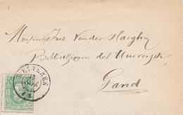 787/27 - Lettre TP 30 Double Cercle WETTEREN (pas D'année Dans Le Cachet) Vers GAND - NIPA 250 X 3. - 1869-1883 Leopold II