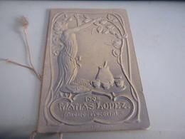 CALENDARIO DA BARBIERE 1904 MATIAS LOPEZ - Calendriers