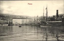 Cp Rijeka Fiume Kroatien, Hafen, Wasserpartie, Segelboote - Croatia