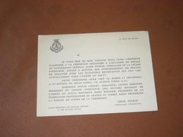CARTE INVITATION 11/09/1933 DEPART COMMANDANT Albin PEYRON ARMEE DU SALUT, LEGION D'HONNEUR. Irène PEYRON Commandant Div - Cartes De Visite