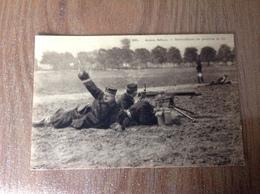 Armée Belge Mitrailleuse En Position De Tir - Guerre 1914-18