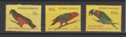 Indonésie 1980 Oiseaux Série 895-897 3 Val ** MNH - Indonésie