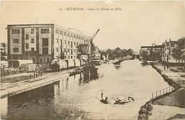 -depts Div.-ref-AE885- Haut Rhin - Canal Du Rhone Au Rhin - Peniche - Peniches - Train - Trains - Grue De Chargement - - Mulhouse