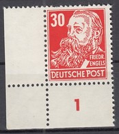 DDR 335 V A Y I, Postfrisch **, Geprüft, Friedrich Engels 1952/53 - DDR