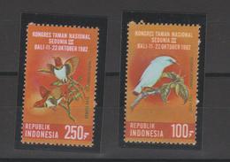 Indonésie 1982 Oiseaux Série 969-970 2 Val ** MNH - Indonésie