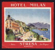 LAGO MAGGIORE - STRESA - HOTEL MILAN - Publicité Pubblicità FOLDER BROCHURE GUIDE 1934 (see Sales Conditions) - Dépliants Turistici
