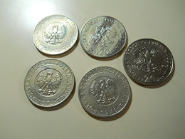 Poland Lot 5 Coins 20 Zlotych - Monnaies & Billets
