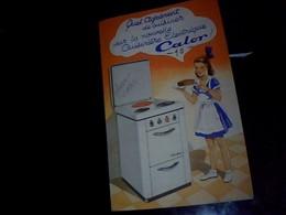 Publicite Electro Menager CALOR  A Lyon/monplaisir  Cuisiniere Electrique Annee 50/60  Tract 2 Pages - Advertising