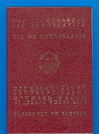 SFRJ - YUGOSLAVIA  PASSEPORT DE SERVICE - PASSPORT - SLUZBENI PASOS - 9 Sevice Visas WAR YEARS 1987-1997. - Documents Historiques