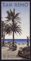 SAN REMO - HOTEL ROYAL - Publicité Pubblicità FOLDER BROCHURE GUIDE (see Sales Conditions) - Dépliants Turistici