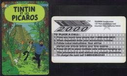 TINTIN ET LES PICAROS - HERGE / USA CARTE TELEPHONE (ref 3783c) - BD