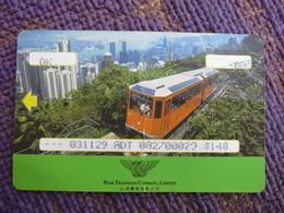 Hongkong Peak Tramway,with  Bend(backside Dinosaur) - Tram