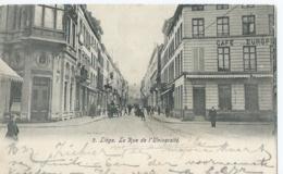 Luik - Liège - 2 - La Rue De L'Université - Café Europe - 1906 - Liege