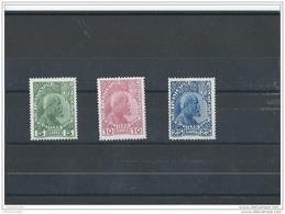 LIECHTENSTEIN 1912/1915 - YT N° 1/3 NEUF AVEC CHARNIERE * (MLH) GOMME D'ORIGINE TTB - Liechtenstein