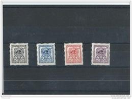 LAOS 1956 - YT N° 33/36 NEUF SANS CHARNIERE ** (MNH) GOMME D'ORIGINE LUXE - Laos
