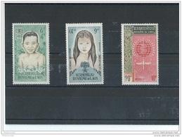 LAOS 1962 - YT N° 79/81 NEUF SANS CHARNIERE ** (MNH) GOMME D'ORIGINE LUXE - Laos