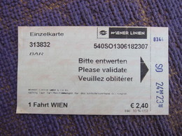 Wien Single Ticket - Subway
