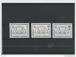 CAMBODGE 1963 - YT N° 141/143 NEUF SANS CHARNIERE ** (MNH) GOMME D'ORIGINE LUXE - Cambodge