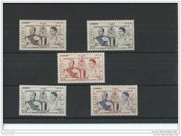 CAMBODGE 1955 - YT N° 52/56 NEUF AVEC CHARNIERE * (MLH) GOMME D'ORIGINE TTB - Cambodge