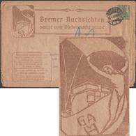 Allemagne 1908. Entier Postal Timbré Sur Commande, Envoyé à Rio. Voilier Et Livres, Bremer Nachrichten - Bateaux