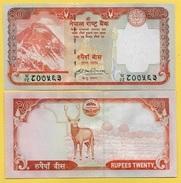 Nepal 20 Rupees P-62 2008 UNC - Népal