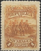 NICARAGUA 1892 Discovery Of America - 1c First Sight Of The New World MH - Nicaragua