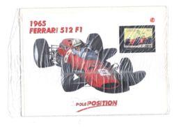 DAN40 AUTOMOBILISMO FORMULA 1 FERRARI - COLLEZIONE POLE POSITION MILANO FINANZA FERRARI 512 1965 CON FRANCOBOLLO LIBERIA - Car Racing - F1