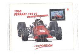 DAN41 AUTOMOBILISMO FORMULA 1 FERRARI - COLLEZIONE POLE POSITION MILANO FINANZA FERRARI 312 1968 CON FRANCOBOLLO LIBERIA - Car Racing - F1