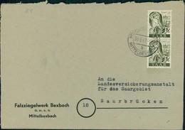 Saarland Bedarfsbrief Saar I O Höcherberg Mittelbexbach B (12-283) - 1947-56 Ocupación Aliada