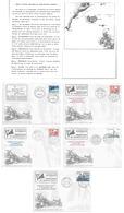 Série De 5 Lettres - Voyages Arctiques De Jean Batispte Charcot - Norvège - Iles Feroe - Islande - Goenland - Explorateurs & Célébrités Polaires