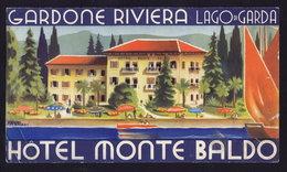 LAGO Di GARDA - HOTEL MONTE BALDO - Publicité Pubblicità FOLDER BROCHURE GUIDE (see Sales Conditions) - Dépliants Turistici