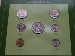 REPUBLIC OF MALTA ( From The Serie Coin Sets Of All Nations ) Form. 20,5 X 29,5 Cm. ) Card + Stamp '91 ! - Malta