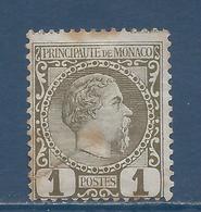 Monaco - YT N° 1 - Neuf Avec Charnière, Sans Gomme - 1885 - Monaco