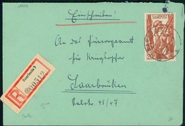 Saarland Bedarfsbrief Saar III Einschreiben O Saarlouis 3 A ==> Kleine 18 Im Kreis Siehe Beschreibung (12-288) - 1947-56 Ocupación Aliada