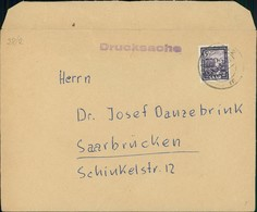 Saarland Bedarfsbrief Saar IV O Saarbrücken 2 M, Lasche Rückseitig Geknickt (12-289) - 1947-56 Ocupación Aliada
